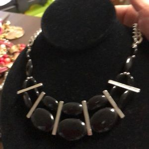 Jewelry - Black and Silver Necklace. 16-20 adjustable. EUC